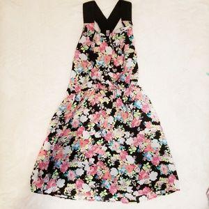 Xhilaration Ruffle Floral Dress Large